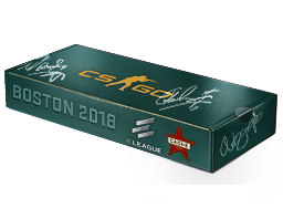 An un-opened Boston 2018 Cache Souvenir Package