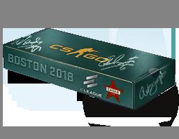 An un-opened Boston 2018 Cache Souvenir Package