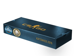An un-opened ESL One Katowice 2015 Dust II Souvenir Package