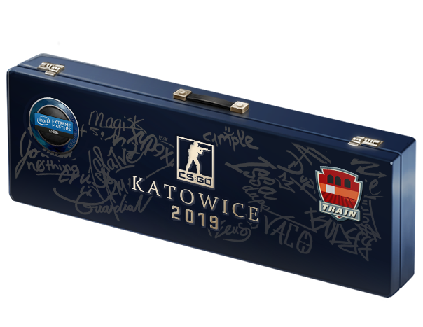 An un-opened Katowice 2019 Train Souvenir Package