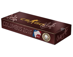 An un-opened MLG Columbus 2016 Dust II Souvenir Package