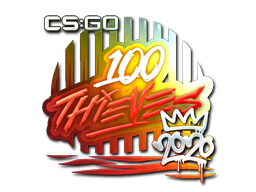 Sticker | 100 Thieves (Foil) | 2020 RMR