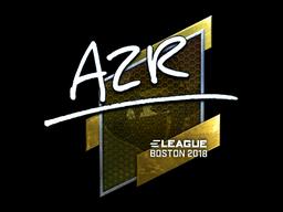 Sticker | AZR (Foil) | Boston 2018