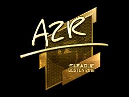 Sticker | AZR (Gold) | Boston 2018