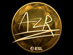 Sticker | AZR (Gold) | Katowice 2019