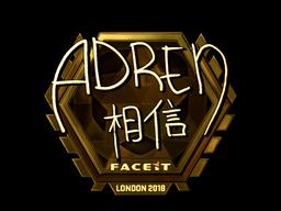 Sticker | AdreN (Gold) | London 2018