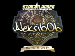 Sticker | Aleksib (Gold) | Berlin 2019
