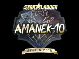 Sticker | AmaNEk (Gold) | Berlin 2019