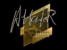 Sticker | Attacker (Gold) | Boston 2018