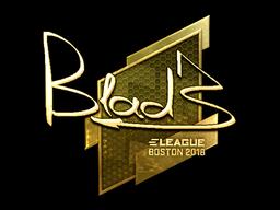 Sticker | B1ad3 (Gold) | Boston 2018