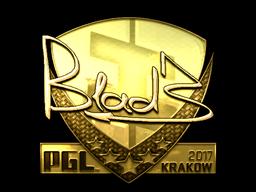Sticker | B1ad3 (Gold) | Krakow 2017