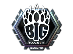 Sticker | BIG (Foil) | London 2018
