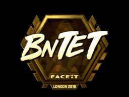 Sticker | BnTeT (Gold) | London 2018