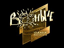 Sticker | Boombl4 (Gold) | Boston 2018