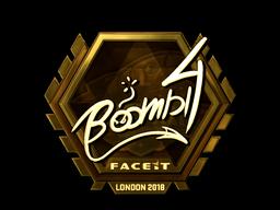 Sticker | Boombl4 (Gold) | London 2018