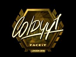 Sticker | COLDYY1 (Gold) | London 2018