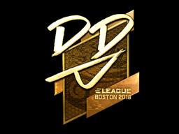 Sticker | DD (Gold) | Boston 2018