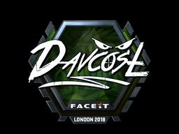 Sticker | DavCost (Foil) | London 2018