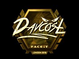 Sticker | DavCost (Gold) | London 2018