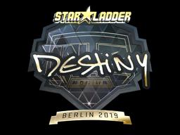 Sticker | DeStiNy (Gold) | Berlin 2019