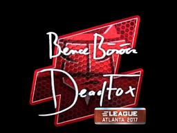 Sticker | DeadFox (Foil) | Atlanta 2017