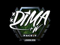 Sticker | Dima (Foil) | London 2018