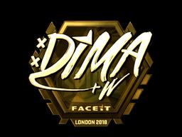 Sticker | Dima (Gold) | London 2018