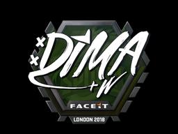 Sticker | Dima | London 2018