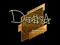 Sticker | Dosia (Gold) | Boston 2018