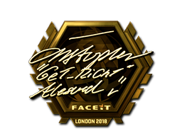 Sticker | GeT_RiGhT (Gold) | London 2018