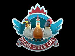Sticker | Hard Cluck Life (Foil)