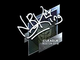 Sticker | NBK- (Foil) | Boston 2018