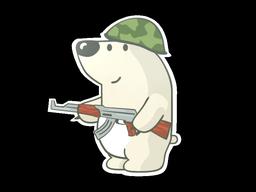 Sticker   Nelu the Bear