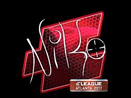 Sticker | NiKo (Foil) | Atlanta 2017