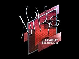 Sticker | NiKo (Foil) | Boston 2018