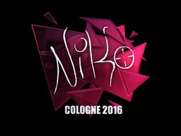 Sticker | NiKo (Foil) | Cologne 2016