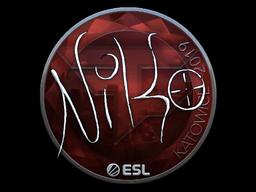 Sticker | NiKo (Foil) | Katowice 2019