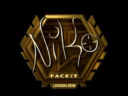 Sticker | NiKo (Gold) | London 2018