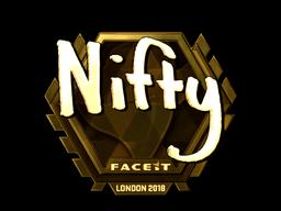 Sticker | Nifty (Gold) | London 2018