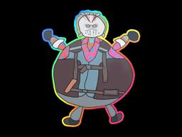 Sticker   Poorly Drawn Bloody Darryl (Holo)