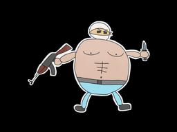Sticker   Poorly Drawn Terrorist