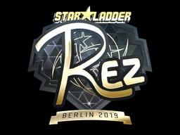 Sticker | REZ (Gold) | Berlin 2019