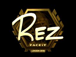 Sticker   REZ (Gold)   London 2018