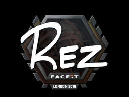 Sticker   REZ   London 2018
