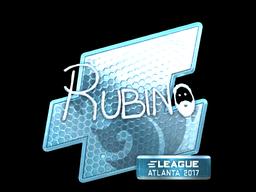 Sticker   RUBINO (Foil)   Atlanta 2017
