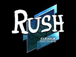 Sticker | RUSH (Foil) | Boston 2018