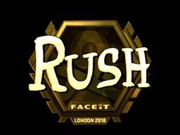 Sticker   RUSH (Gold)   London 2018