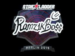 Sticker | Ramz1kBO$$ (Foil) | Berlin 2019