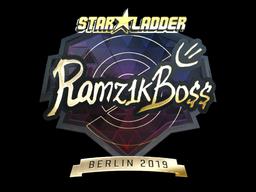 Sticker | Ramz1kBO$$ (Gold) | Berlin 2019