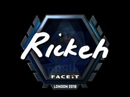 Sticker | Rickeh (Foil) | London 2018